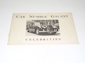 Car Number Galaxy . Celebrities 1962 (Woodall)